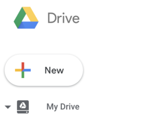 New button in Google Drive